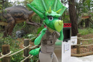 Dorney Park's  Triceratops Character