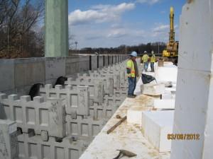 Geofoam backfill used in New Jersey Turnpike project