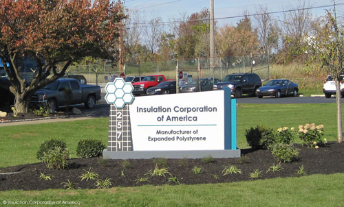 Insulation Corp EPS sign