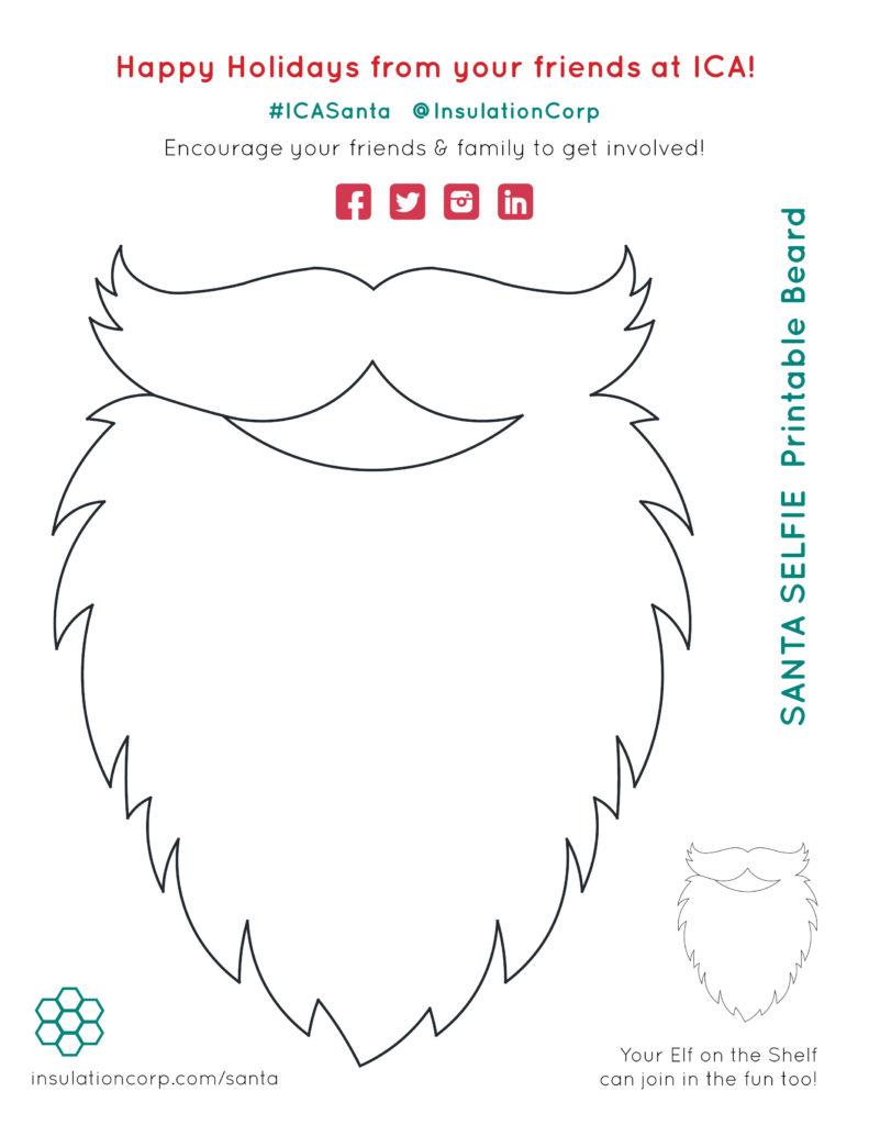 picture about Printable Beard named ICASanta Printable Santa Beard
