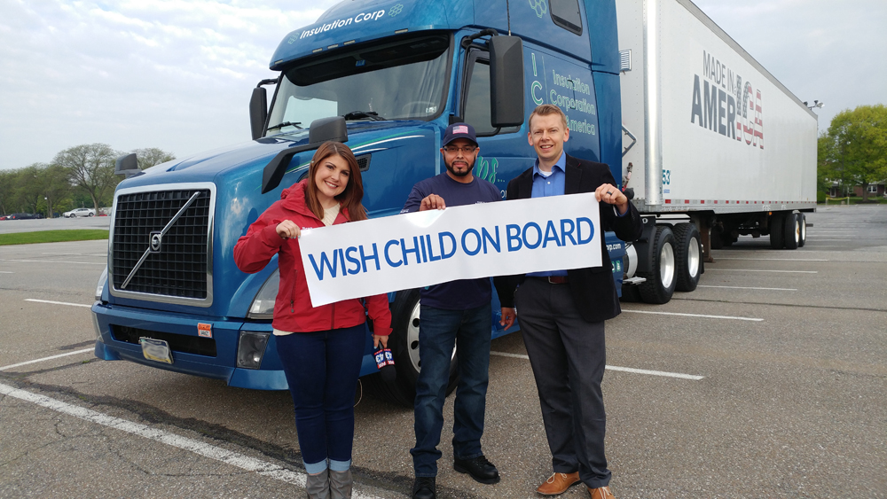 Make A Wish Convoy Fox 43 Interview with ICA Driver