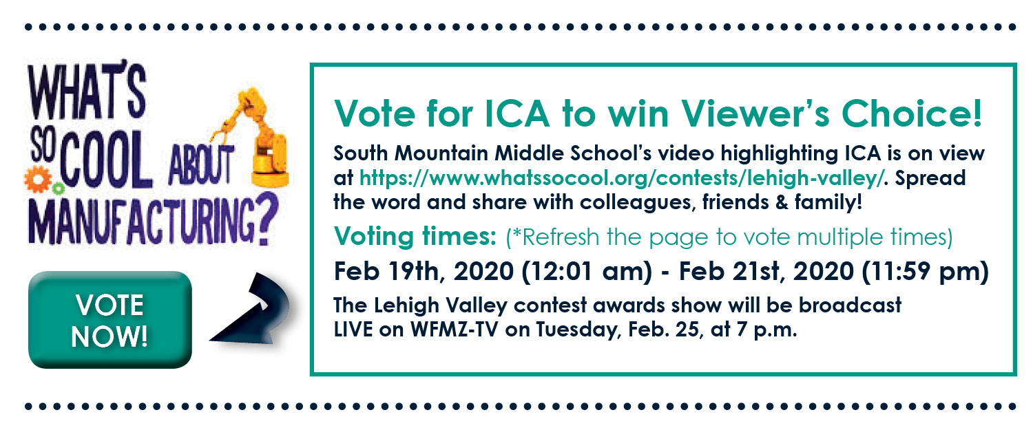 What's So Cool About Manufacturing Contest - Vote for ICA now!